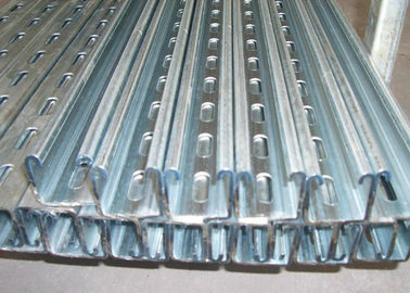 Cold Rolled Steel Sheet Roll Forming Machine Galvanized Solar Rack Unistrict Channel