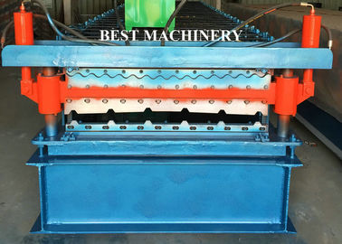 Double Layer Color Coated Roofing Sheet Steel Profile Roll Forming Machine