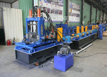 Steel C And Z  Purlin Roll Forming Machine Frame  Construction 80mm - 300mm
