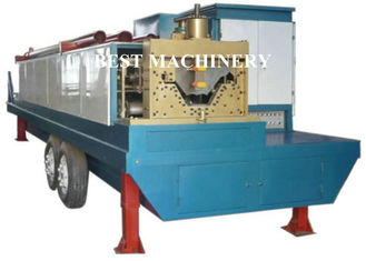China Trailer Mounted ABM K Span Roll Forming Machine Curving Roof 8m/min - 12m/min supplier