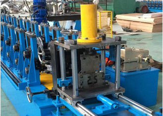 Steel Unistrut Solar Rack C Channel Roll Forming Machine Chain / Gear Box Driven System