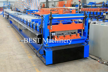 Color Steel High Srength Metal Deck Floor Roll Forming Machine For Closed Floor Decking