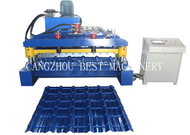 China Color Steel Versatile Roll Forming Machine PPGI Material With Hydraulic Cutting Type supplier