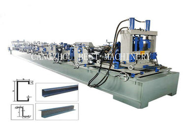 Galvanized Steel C/Z Purlin Roll Forming Machine Automatically With Pre - Cutting