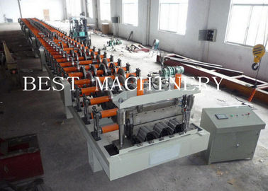SGS Decking Floor Sheet Roll Forming Machine Hydraulic Cutting Type