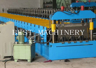 Floor Galvanized Steel Decking Panel Roll Forming Machine PLC Control System