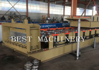 Professional Metal Building Hydraulic Floor Deck Sheet Roll Forming Machine 6kw 50-60HZ