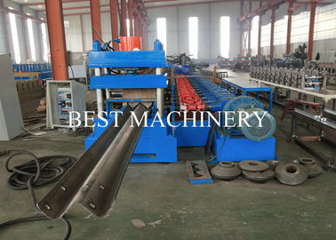 China PLC Highway Guardrail Roll Forming Machine Metal Steel Profile W Beam Crash Barrier supplier