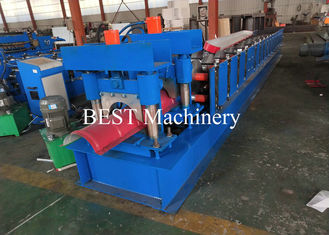 Color Coated Top Roll Ridge Cap Roll Forming Machine with Pressing Device