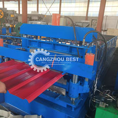 2 Layer Metal Corrugated Steel Sheet Roll Forming Machine , Roofing Sheet Making Machine