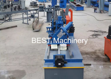 PLC Control Stud Manufacturing Machine For Main Channel Furring Channel