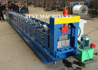 China 6 Inch Roofing Rain Gutter Roll Forming Machine PLC Control Cutting factory