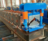 China SQ-Top Ridges Roll Forming Machine 8-12m/Min Speed PLC Control Machine factory