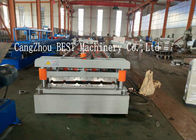 China Trapezoidal Roofing Sheet Roll Forming Machine 380V Roofing Sheet Making Machine factory