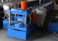 Galvanizned Steel Euro Style Roller Shutter Door Frame Roll Forming Machine 0.8-1.2mm Thickness