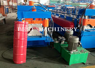 China Best Glazed Roof Ridge Cap Roll Forming Machine 3KW 12m/min Production factory