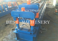 China Classic Galvanized Aluminum Steel Metal Roof Ridge Cap Tile Roll Forming Machine 14 station factory