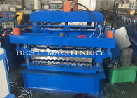 China IBR Corrugated Roof Panel Tile Roll Forming Machine , Roof Sheet Making Machine factory