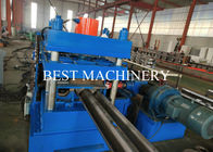 Road Safety Highway Guardrail Roll Forming Machine 22kw Power PLC Control