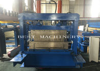 Big Cold C Profile Purlin Roll Forming Machine Chain Driven Hydraulic Cutting Type