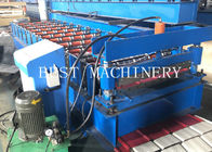Metal Roofing Sheet Making Machine 3KW Chain Driven With PLC Control System