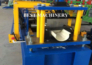 China Aluminum Roofing Gutter Sheet Roll Forming Machine Downpipe Usage distributor