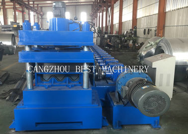 China 2&3 Waves Saftey Highway Guardrail Roll Forming Machine 6mm Gear Box Driven distributor