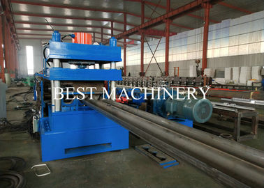 China Hydraulic Highway Guardrail Roll Forming Machine Steel Iron 2&3 Waves Crash Barrier distributor