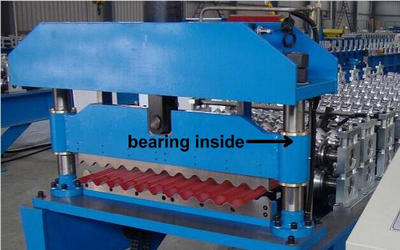 Steel Roofing Sheet Roll Forming Machine PPGI GI IBR Trapezoid , Roof Sheet Rolling Machines