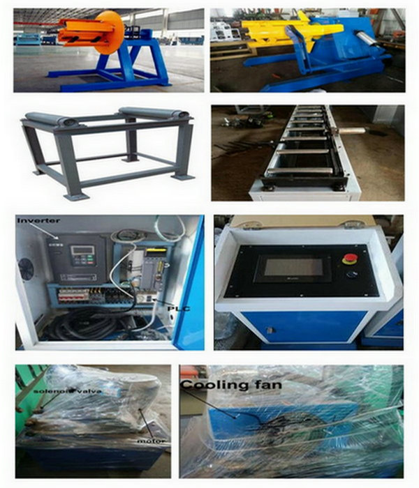 Guide Pillar Roofing Glazed Tile Roll Forming Machine with 18 Station Groups