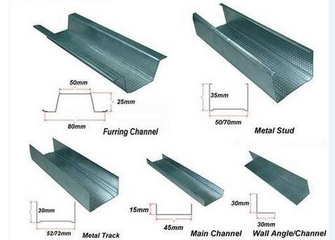 Metal stud and track roll forming machine Drywall galvanized sheet light keel