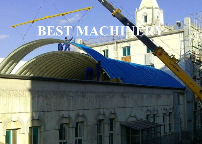 Trailer Mounted ABM K Span Roll Forming Machine Curving Roof 8m/min - 12m/min