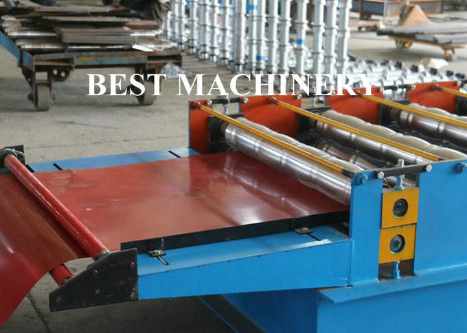 Color Coat Metal Glazied Roof Tile Roll Forming Machine 4m/min - 6m/min Speed