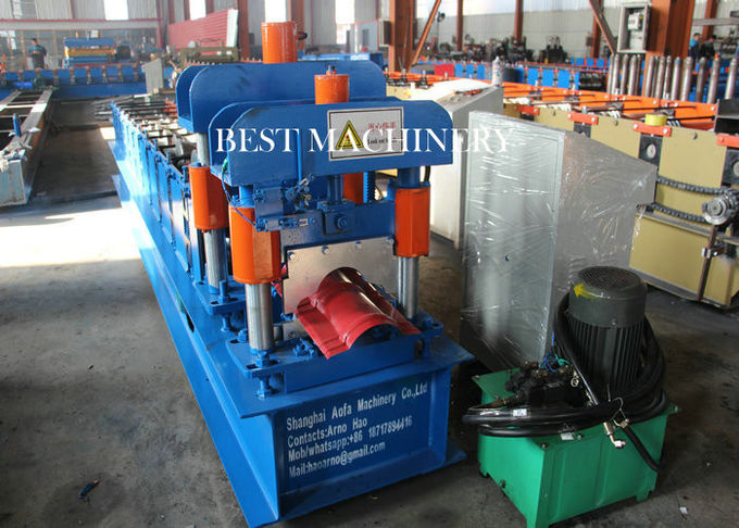 House Metal Roof Ridge Cap Roll Forming Machine with PLC Control