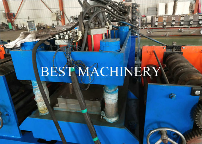 PLC Highway Guardrail Roll Forming Machine Metal Steel Profile W Beam Crash Barrier