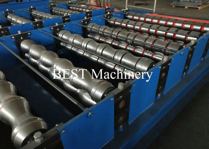 Color Steel Coated Roman Tile Roll Forming Machine 0.3-0.8mm Coil Thickness
