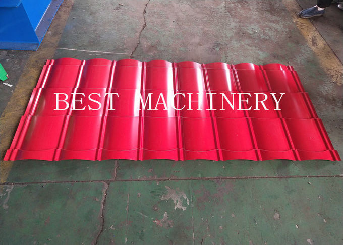 Corugated Tile Roll Forming Making Machine 380v 2 Years Warranty